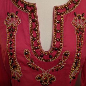 INC International Concepts Tops - INC Pink Beaded Ethnic Tunic NWT